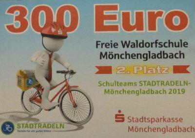Stadtradeln 2019 – 2. Platz