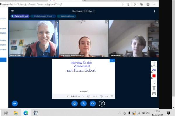 Schüler stellen Lehrer vor – Heute: Christian Eckert