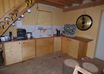 Bau von Kaffeebar und Schleifecke im Werkraum